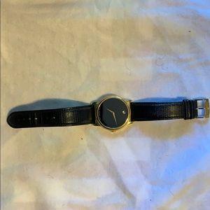 Movado snakeskin gold watch